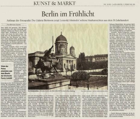 Tagesspiegel: Berlin im Frühlicht, 5. Februar 2011