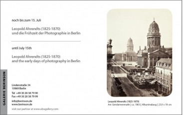 Leopold Ahrendts (1825-1870) and the early days of photography in Berlin