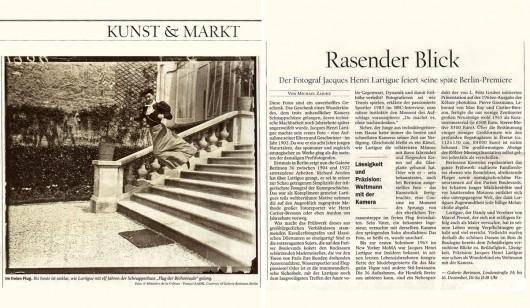 Tagesspiegel | 1. Oktober 2011 | Kunst & Markt |
