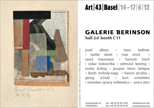 Art | 43 | Basel | 14-17|6|2012 | Halle 2.0 | Stand C 11
