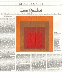 Press Reviews on: Josef Albers (1888-1976) Paintings, Drawings, Prints