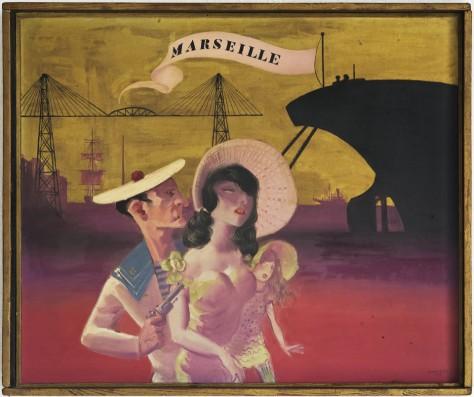 Hans Bellmer (1902-1975) | Marseille | 1932 | Öl auf Holz | 54 x 65 cm